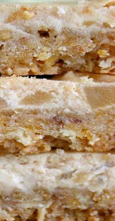 Apple Desserts, Cookie Desserts, Apple Recipes, Fun Desserts, Delicious Desserts, Dessert Recipes, Bar Recipes, Recipies, Apple Pie Cheesecake