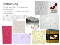 embossing Revision Techniques, Letterhead Paper, Exam Revision, Learning Methods, Aqa, Package Design, Printing Process, Industrial Design, Product Design