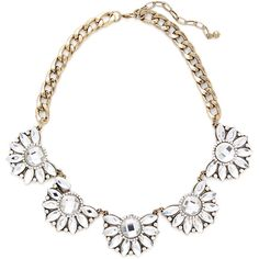 Sparkling Sage Glass Stone Floral Bib Necklace ($39) ❤ liked on Polyvore featuring jewelry, necklaces, no color, sparkling sage, bib jewelry, glass bead necklace, floral jewelry and long necklace