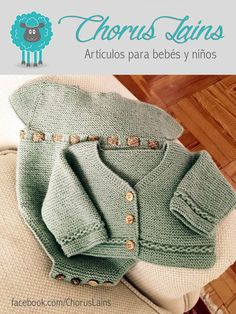 Conjunto ranita Modelo CAROLINA + Chaqueta a juego Hecho a mano en lana 100% by Chorus Lains