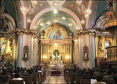 interior iglesia santo domingo
