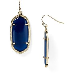 Kendra Scott Elle Earrings ($55) ❤ liked on Polyvore featuring jewelry, earrings, joias, navy cats eye, 14 karat gold jewelry, cats eye jewelry, navy earrings, navy jewelry and kendra scott