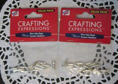 These Crafting Expressions Silver Tube Clasps, 14 Sets x 2, are approximately 15mm long and are of silverplate. Clasps can be used with jump