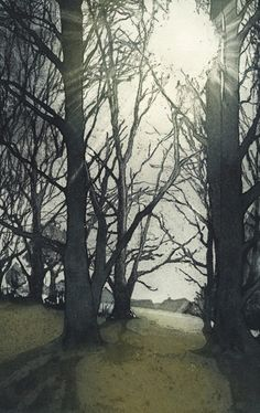 Morning Light by Chrissy Norman. Etching.