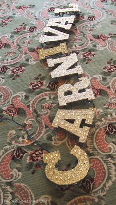DIY-ify: Light-up Glitter Marquee Letters Diy Marquee Letters, Marquee Lights, Light Letters, Craft Letters, Carnival Decorations, Halloween Decorations, Carnival Birthday Parties, Circus Party, Themed Parties