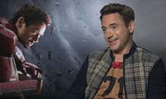 Robert Downey Jr and the Avengers: Age of Ultron cast hit back at superhero ... Robert Downey Jr  #RobertDowneyJr