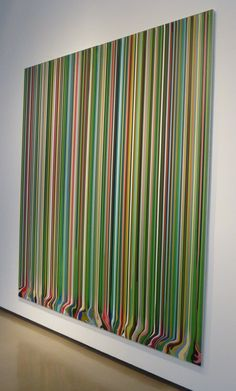 Ian Davenport Colorfall at Paul Kasmin Gallery Abstract Painters, Abstract Art, Weisman Art Museum, Stainless Steel Panels, Art Courses, Drip Painting, Cool Diy Projects, Wall Sculptures, Contemporary Paintings