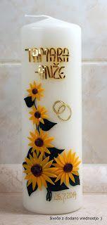 Poročne  sveče ... pomembna je poročna sveča, ker zaznamuje veliki dan  mladoporočencev, hkrati pa ju spremlja poročna sveča še naprej na s...
