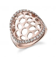 Style #FR172    This 18K rose gold diamond fashion ring features 0.63 carats of round brilliant diamonds.
