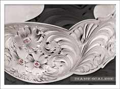 Hand engraved bracelet by Diane Scalese. Western Bright Cut.