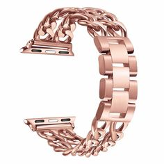 Solid Stainless Steel Metal Link Band for Apple Watch. For all Apple Watch Models 1, 2 and 3 in 42mm 38mm sizes.. Colors: Black, Silver, Gold,Rose gold, Rose Pink, Champagne gold. Made of high quality stainless steel, comfortable to wear. Easy to adjust the length to fit for men and women. #applewatchband #applewatch