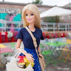 "Barbie® on Instagram: ""Treasure hunting at Mercato Metropolitano!  #mfw #barbie #barbiestyle"""