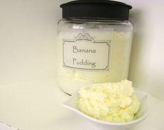 SUGAR SCRUB - Banana Pudding Body Polish - Emulsified - 10oz Jar