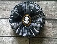 Scottish Brooch Corsage Menzies Tartan Cameo by AillisWonderland