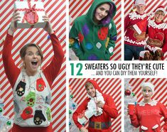 83 Best Ugly Christmas Sweater Ideas Images Christmas Crafts