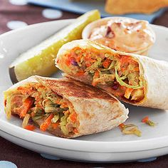 Veggie Wrap Grilled Cheese Chipotle-spiced mayo adds pizzazz to this cheese and veggie wrap.
