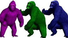 Gorilla Finger Family | Finger Family Nursery Rhymes | Gorilla Finger Family Songs | Learn Colors https://youtu.be/aPJteZOM3gw