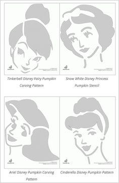 princess+Disney+pumpkin+stencils
