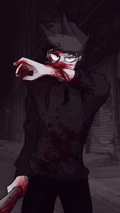 Ye, just wipe that blood off your face! Such a bad guy! Sweat Vert, Cheveux Oranges, Tord Larsson, Character Art, Character Design, Eddsworld Tord, Tomtord Comic, Eddsworld Memes, Bad Boy