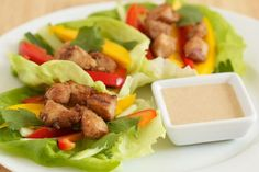 Chicken Recipes Satay Chicken Lettuce Wraps recipe