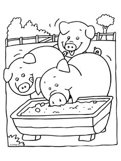 Animals Coloring Pages Farm Animal Coloring Pages, Colouring Pages, Coloring Pages For Kids, Adult Coloring, Coloring Books, Animal Templates, Farm Quilt, Kids Art Class, Art Drawings For Kids