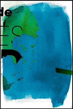 Azurebumble : 'Green on Blue' Series (Digital Artworks)