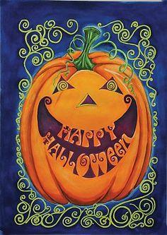 Toland Home Garden Happy Halloween x 18 Inch Decorative Spooky Jack-o-Lantern Pumpkin Garden Flag Halloween Jack, Halloween House, Happy Halloween, Outdoor Halloween, Halloween Party, Outdoor Flags, Flag Decor, 5 W