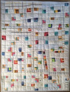 Little quilt made with Seminole leftovers by Deb Rowden's Thrift Shop Quilts: Holy Seminoley