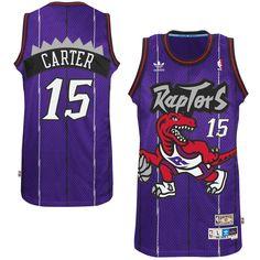 Mens Toronto Raptors Vince Carter adidas Purple Hardwood Classics Swingman Jersey