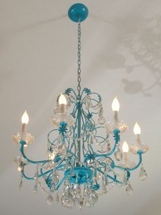 Spray painted beauty! Bedroom light for sure!!!!!! Now to find a chandelier!!