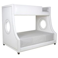 Pick any celebrity baby, and I'll bet you'll find AFK Fine Furniture in his or her bedroom!  Why?  Because it's gorgeous ... and the Porthole Bunk Beds are fun, fun, fun!  Available as either twin-over-twin or twin-over-full, these beds are both posh and practical.  Two kids, one room?  Bunk it up!   With bunks this chic, I'm tempted to climb in myself. AFK Fine Furniture, IHFC IH201 #hpmkt