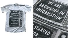 Drowning In Info | Cool T Shirt Design