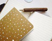 White Polka Dot Mini Journal - hand Drawn Moleskine