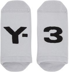 Y-3 Grey Logo Invisible Socks