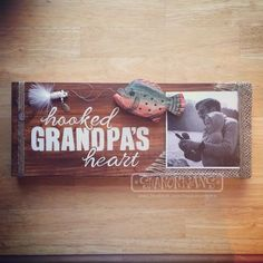 grandpa birthday gifts Fathers Day is just around the corner. Need gift ideas? How about a custom hand painted sign? Wouldnt this one just melt grandpas heart? Diy Gifts For Him, Diy Father's Day Gifts, Father's Day Diy, Diy Christmas Gifts, Cute Gifts, Holiday Crafts, Gifts For Kids, Christmas 2019, Homemade Christmas