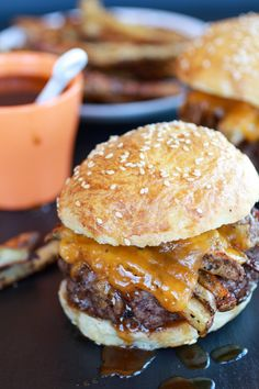 french fry bourbon burgers... yes please.