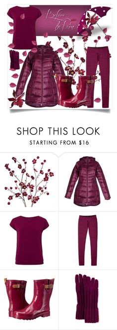 """Before the Rain"" by thedistinctiveme ❤ liked on Polyvore featuring Cost Plus World Market, Columbia, even&odd, prAna, Chooka, Ivanka Trump, rain, umbrella, rainboots and coat"