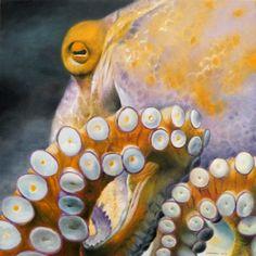 An Octopus oil on panel, 12