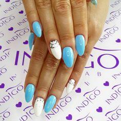 by Agata Kaczmarek Indigo Young Team :) Follow us on Pinterest. Find more inspiration at www.indigo-nails.com #nailart #nails #indigo #white #blue #lagoon #summer #lazy #sunday