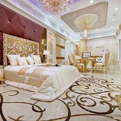 Dubai Interior Design Gallery by Luxury Antonovich Design Luxury Bedroom Design, Master Bedroom Design, Luxury Interior Design, Luxury Home Decor, Home Bedroom, Luxury Homes, Bedroom Ideas, Elegant Home Decor, Elegant Homes