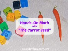 Hands-On Math with The Carrot Seed | Stir The Wonder #handsonplay #bfiar #preschool