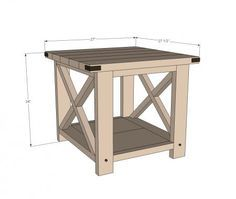 Heres An Idea For Simple End Tables That You Can Make Yourself For - How to build an end table