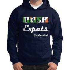 Irish expat Gildan Hoodie (on man)
