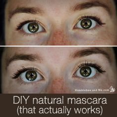 DIY mascara from natural materials that's non-melting, and non-clumping
