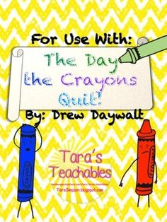 """This product is intended to be used along with the story """"The Day the Crayons Quit"""" written by Drew Daywalt.  Included in this product are 5 different papers for students to either write letters to the crayons who quit, or from the crayons in question.All images have been hand drawn by myself."""