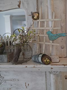 Chateau Chic: Nests and Wire Baskets