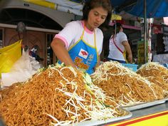 Oodles of noodles at a street stall! Prepared without meat for the Phuket Vegetarian Festival, the annual Chinese-based event that sees believers following certain rituals and traditions to seek purification of the body and mind.
