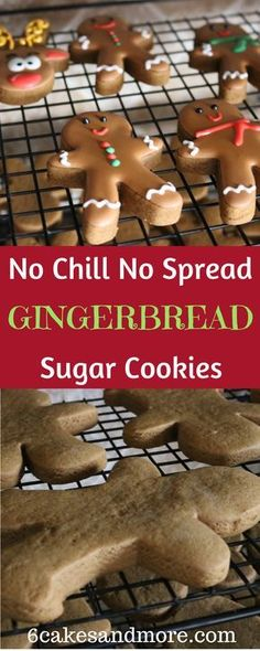Chill No Spread Soft Gingerbread Cookies These no chill no spread Gingerbread sugar cookies are absolutely divine!These no chill no spread Gingerbread sugar cookies are absolutely divine! Soft Gingerbread Cookies, Cut Out Cookies, Holiday Cookies, Holiday Desserts, Holiday Baking, Holiday Recipes, Gingerbread Recipes, Christmas Recipes, Gingerbread Sugar Cookie Recipe