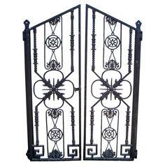 Pair Of Wrought Iron Decorative Gates