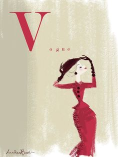 ⍌ Vintage Vogue ⍌ art and illustration for vogue magazine covers -